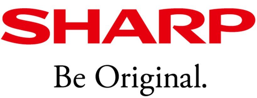 The Sharp appliances logo. The word Sharp is in a deep red and the words Be Original are in black below it.